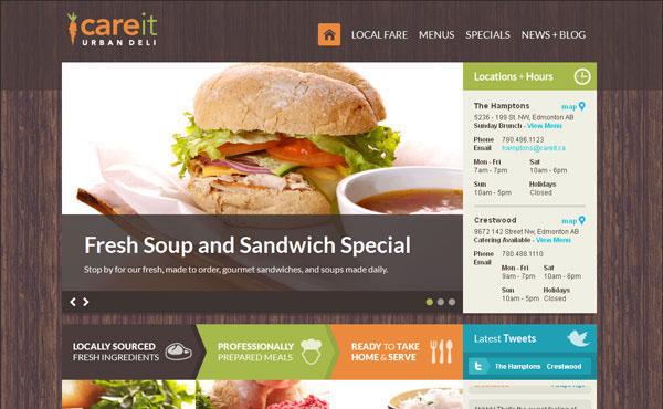 勾起味蕾的美食网站设计