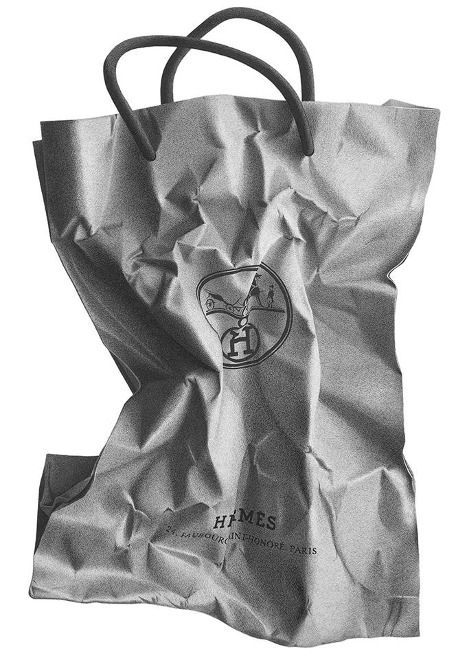 钢笔下的奢侈品牌购物袋 | 花瓣博客