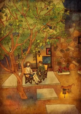 小院子,大树下,一起畅想着当我们老的时候会怎样。