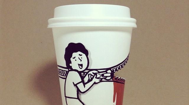 送给喝完咖啡也舍不得丢掉杯子的你