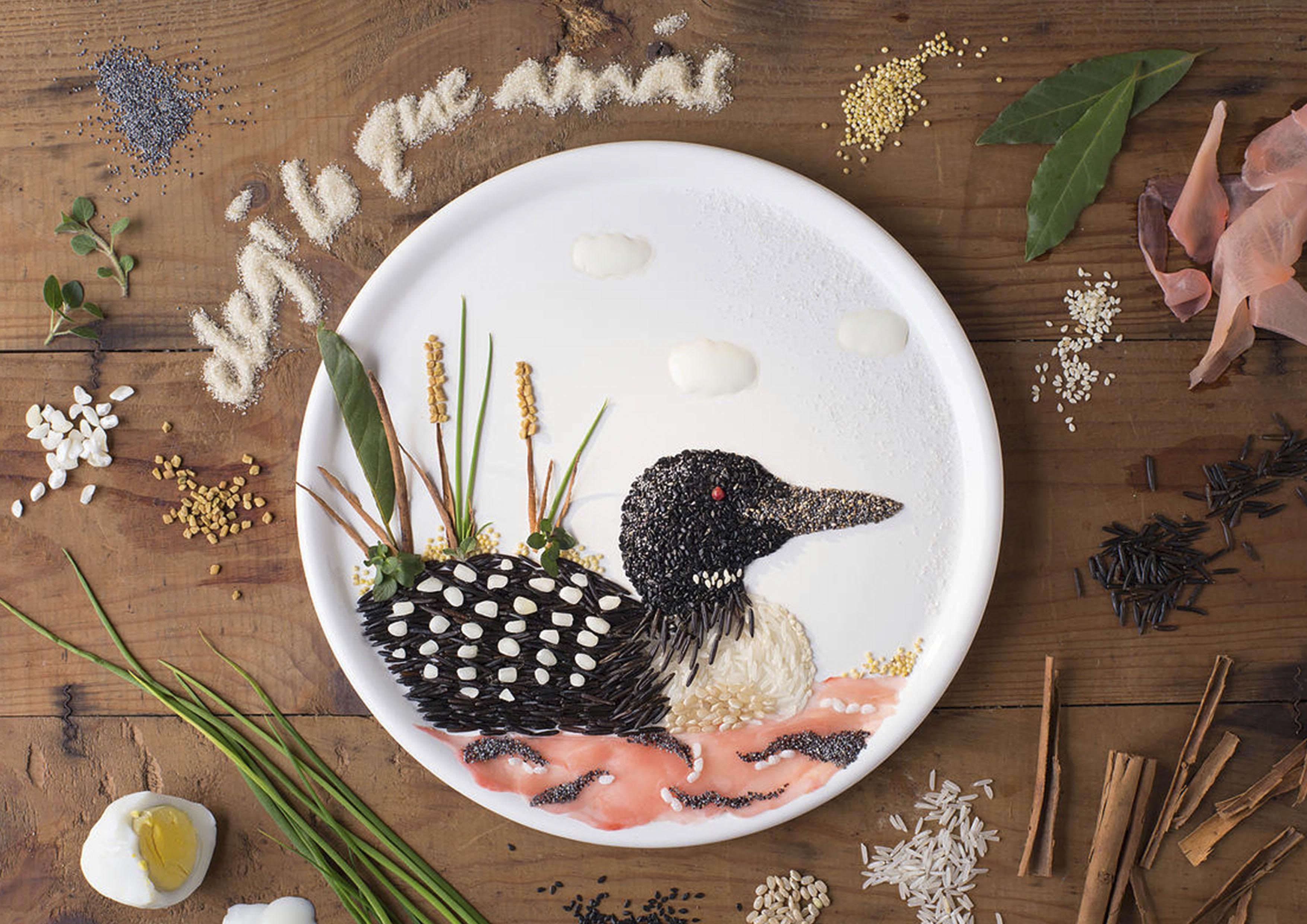 餐盘上流动的美景