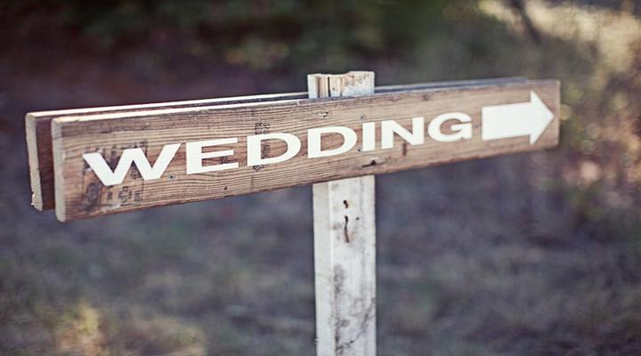 创意设计:婚礼指示牌