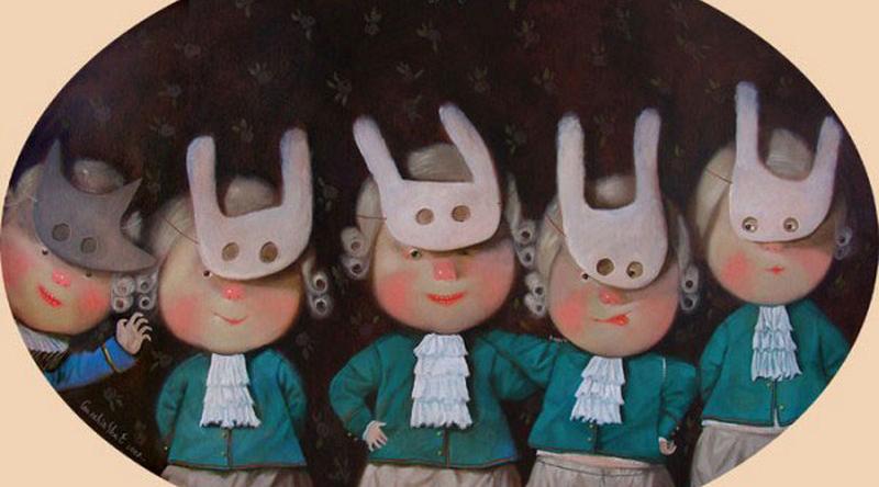 Eugenia Gapchinska:童真绘画
