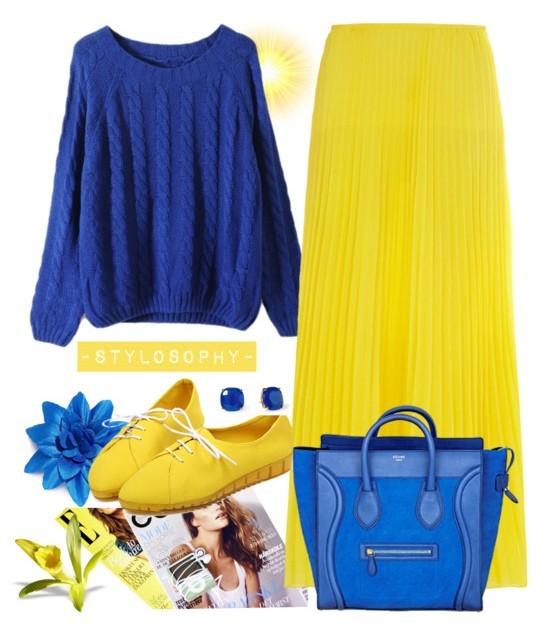 花瓣穿搭:针织毛衣配裙装,秋冬显瘦不冻人