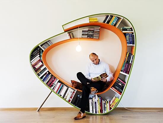 花瓣家居:创意书架,用书装点你的房间