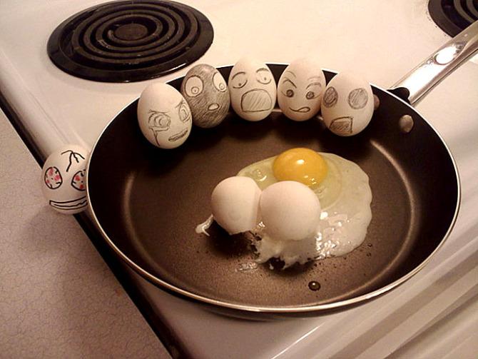 蛋壳上的绘画