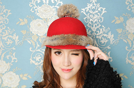 花瓣穿搭:10款冬季时尚帽,戴出个性英伦范儿