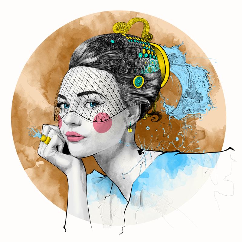 Mustafa Soydan插画作品:十二星座时尚女模特