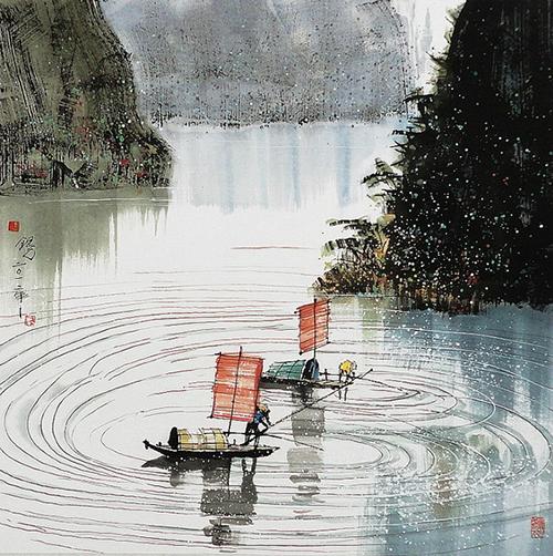 汪钰元:江南古韵彩墨画