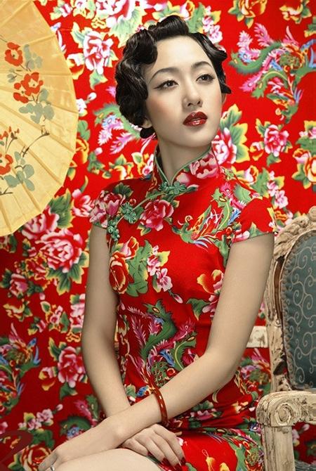 花瓣穿搭:旗袍的风情万种