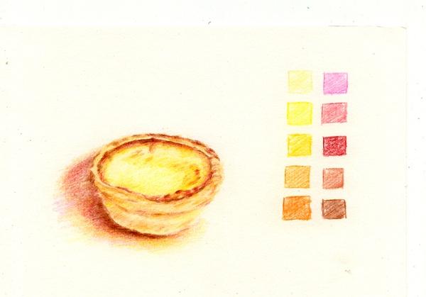 彩铅下的美食,让人垂涎的插画