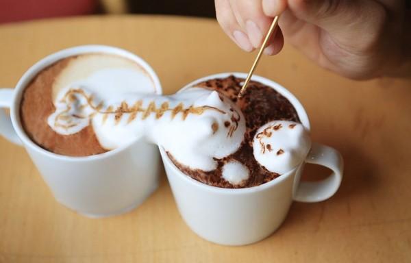 让人不舍得喝的咖啡泡沫艺术
