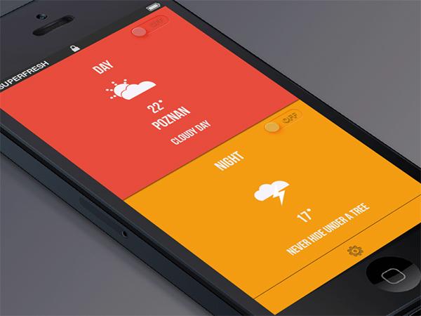 天气App的极简设计,轻松看天气