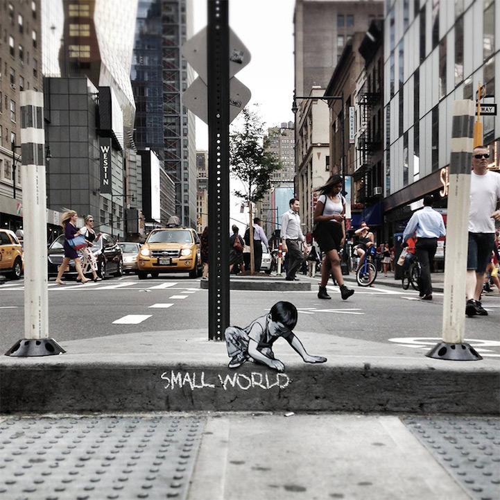 街头趣景,艺术家的微型雕塑