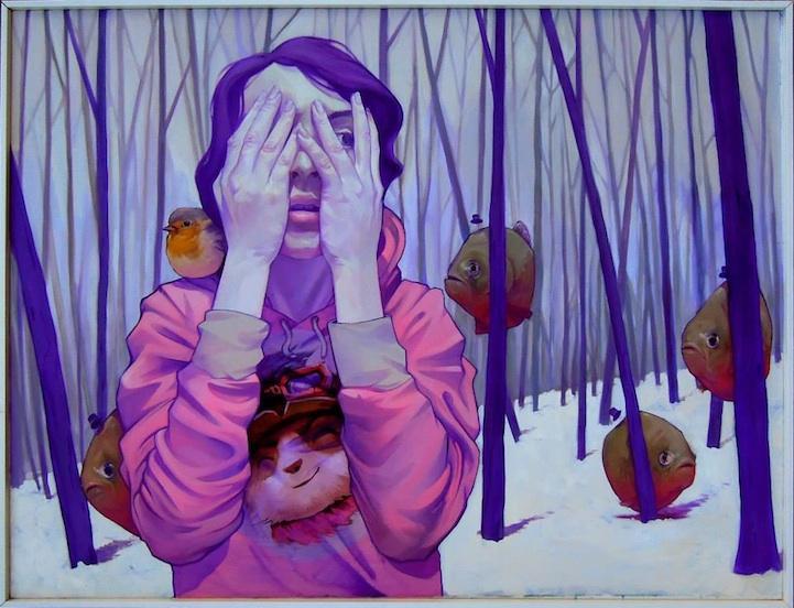 街头艺术家的超现实奇幻艺术