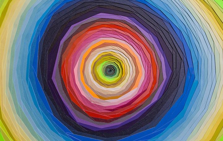 渐变色纸艺,迷幻的视觉冲击