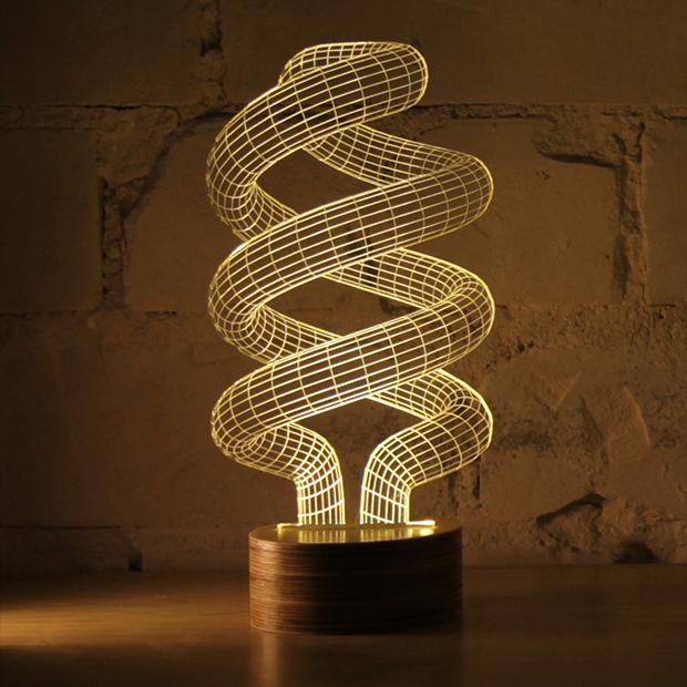 """看似""""立体""""的超酷创意灯饰"""