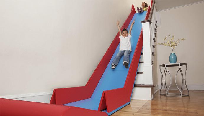 孩子的大玩具:跃层可折叠滑梯