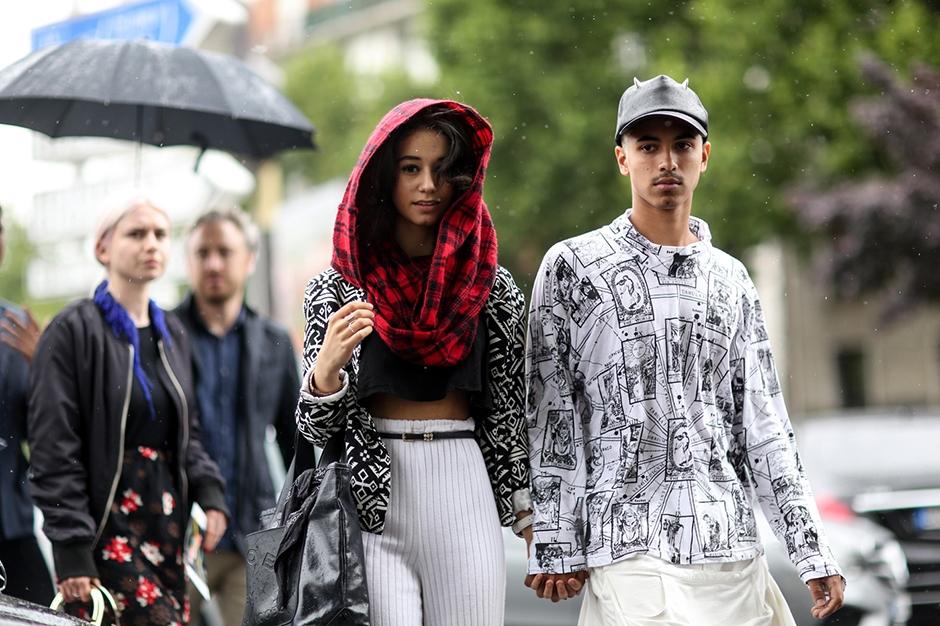 巴黎潮人教你雨天出门的时尚穿搭法