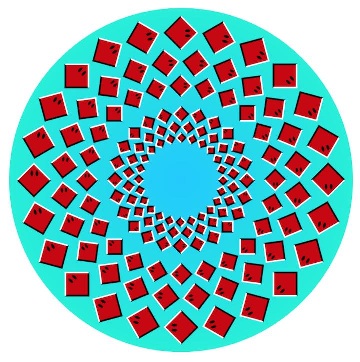 视错觉设计:你能看到几张图在动?