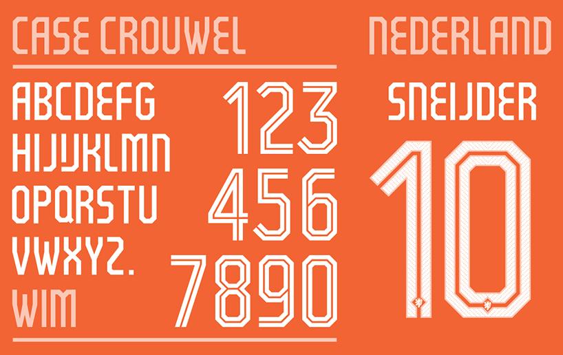世界杯定制,独特的球衣字体设计