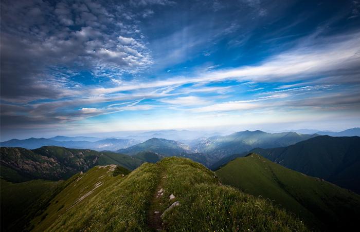 8月驴友最佳宿营地,小五台山的绝美日落星空