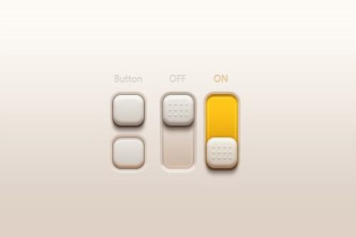 10个超酷的网站按钮和开关设计