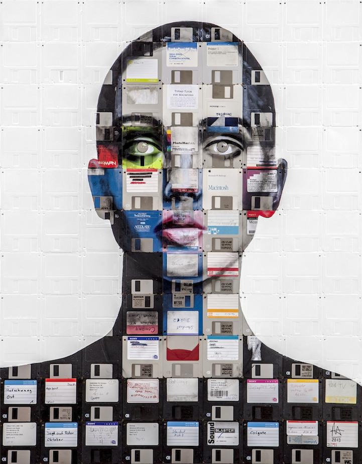 让废弃软盘与胶卷永不过时的艺术创作