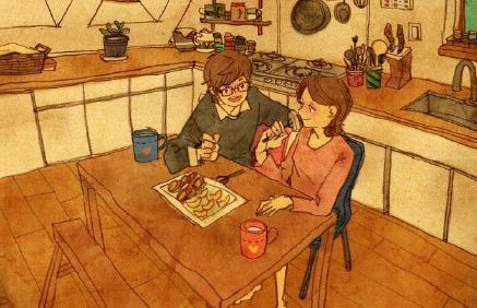 插画师是如何秀恩爱的?
