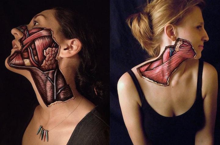 「血淋淋」的人体解剖图