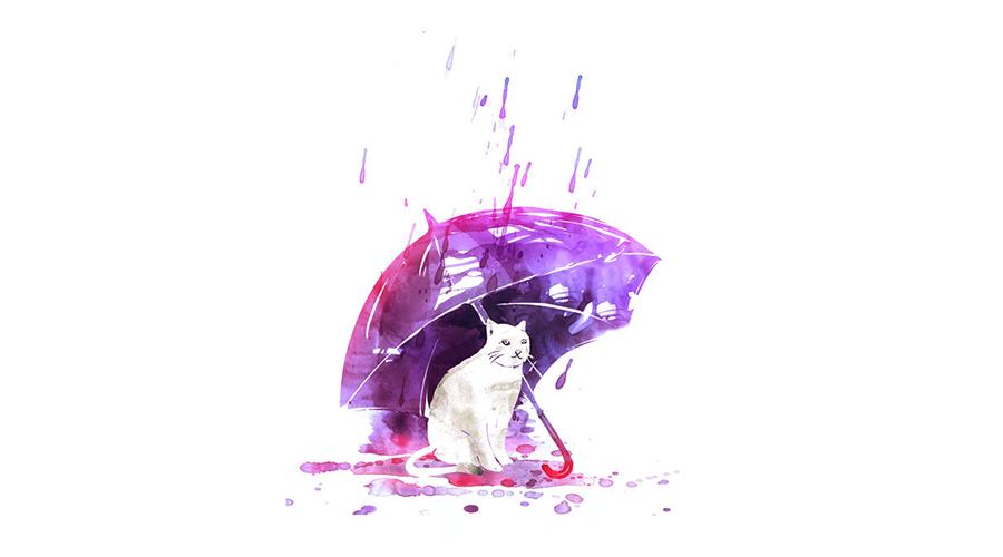 撑一把伞:关于伞的插画大搜集