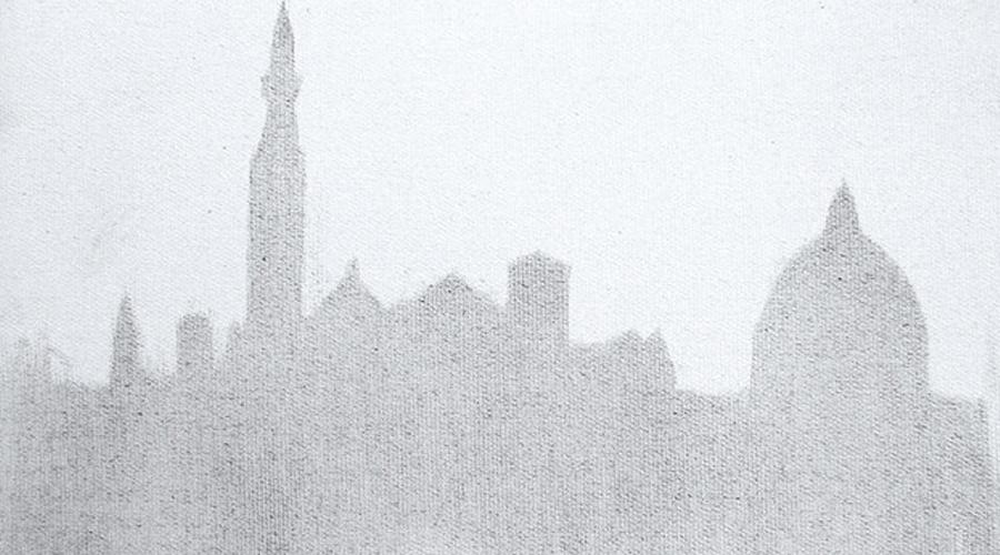 用雾霾作画的人